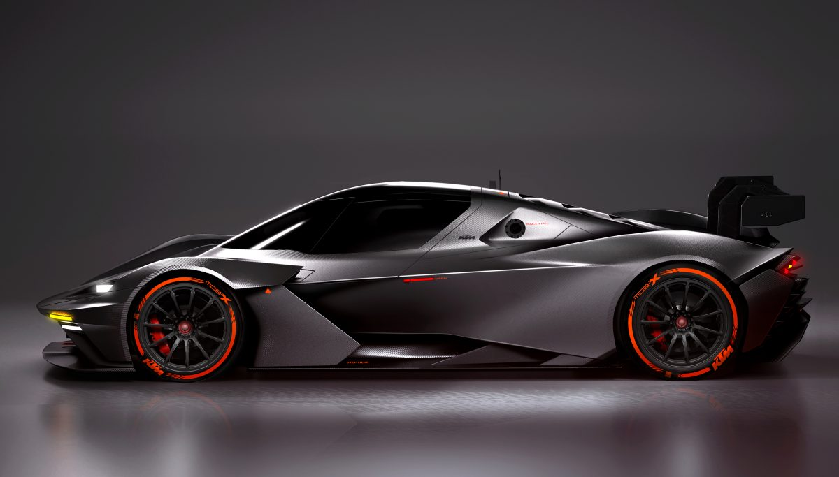 Side view of KTM X-BOW GTX