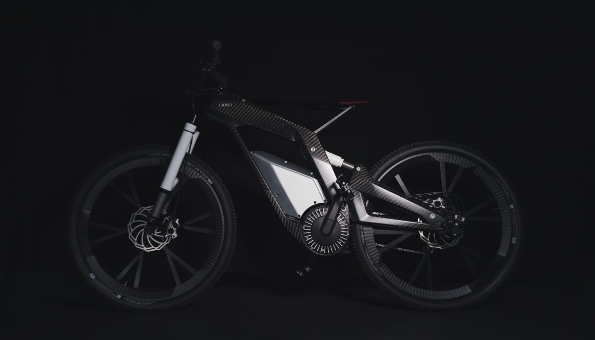 Landscape side view of full Audi e-bike