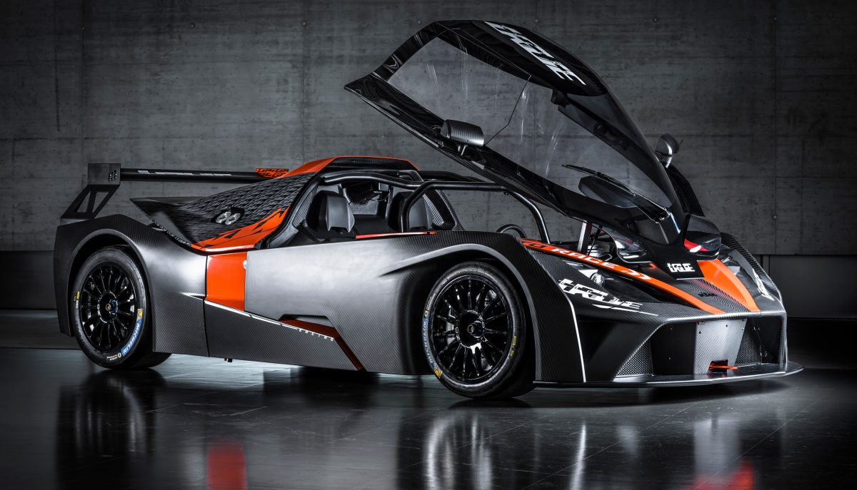 KTM X-BOW GT4 with front hood open