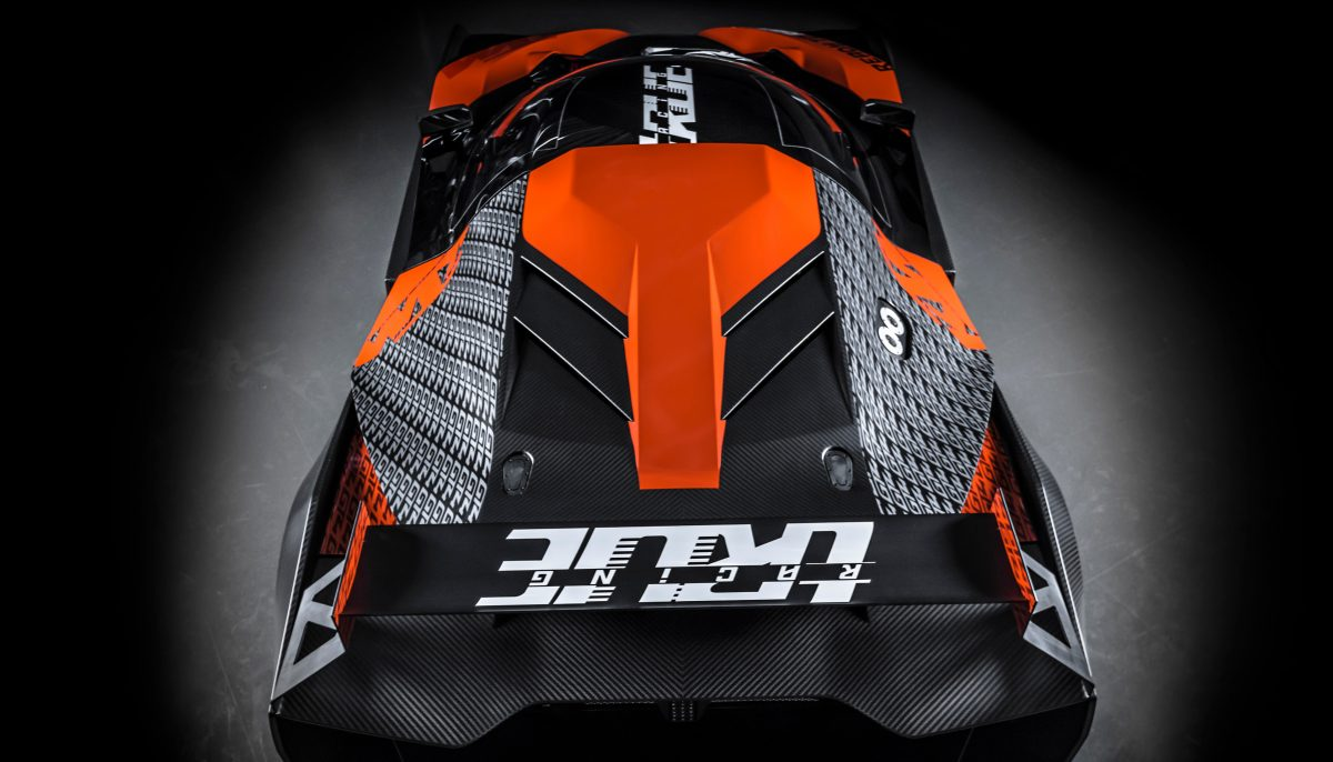 Top view of KTM X-BOW GT4