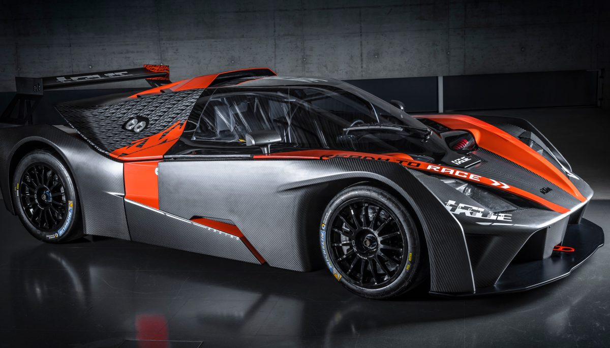 Front side view of KTM X-BOW GT4
