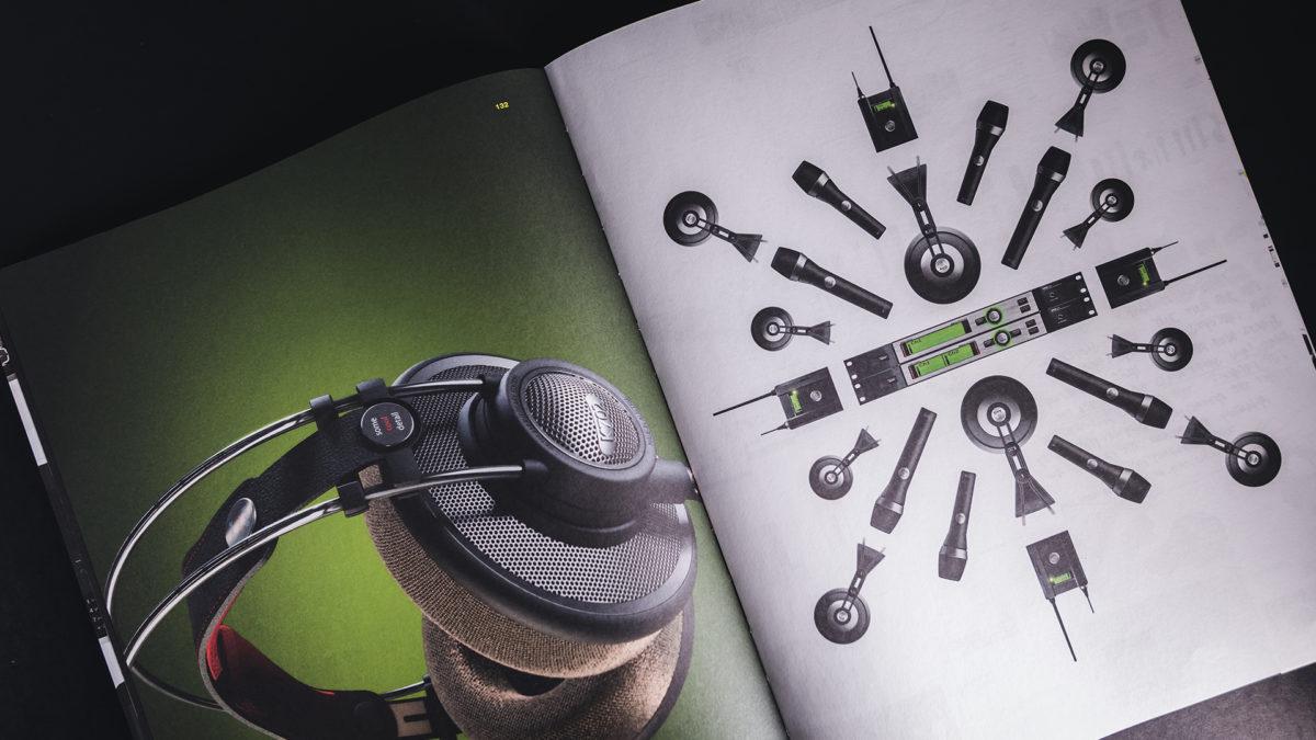 AKG headphones and microphones designed by KISKA