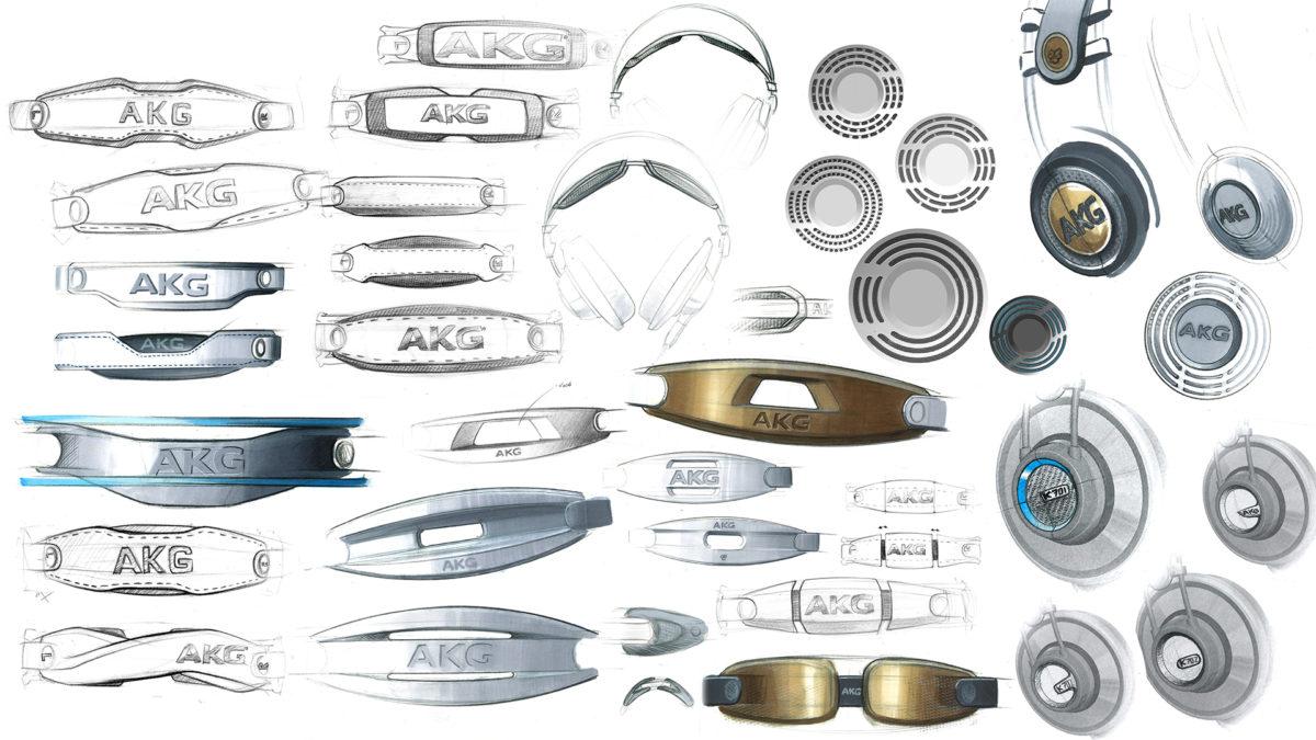 Design Sketches of AKG headphones