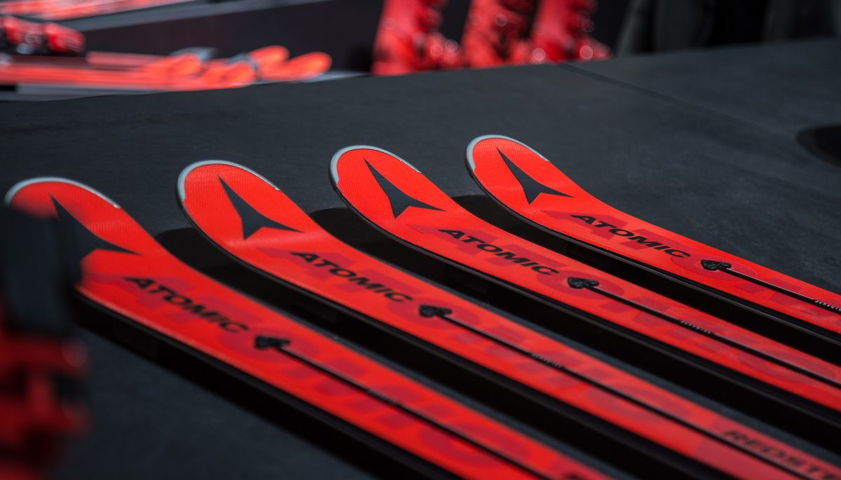 Atomic Redster skis with Atomic logo