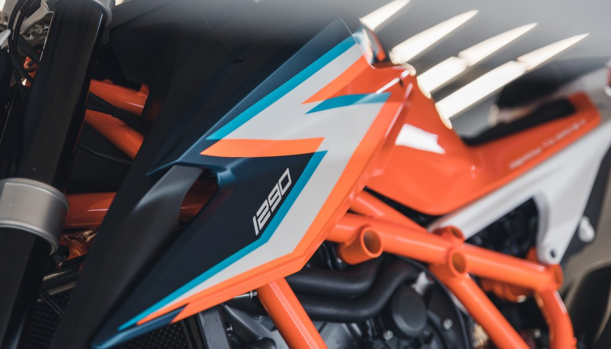 KTM 1290 Super Duke R colour, trim and graphics