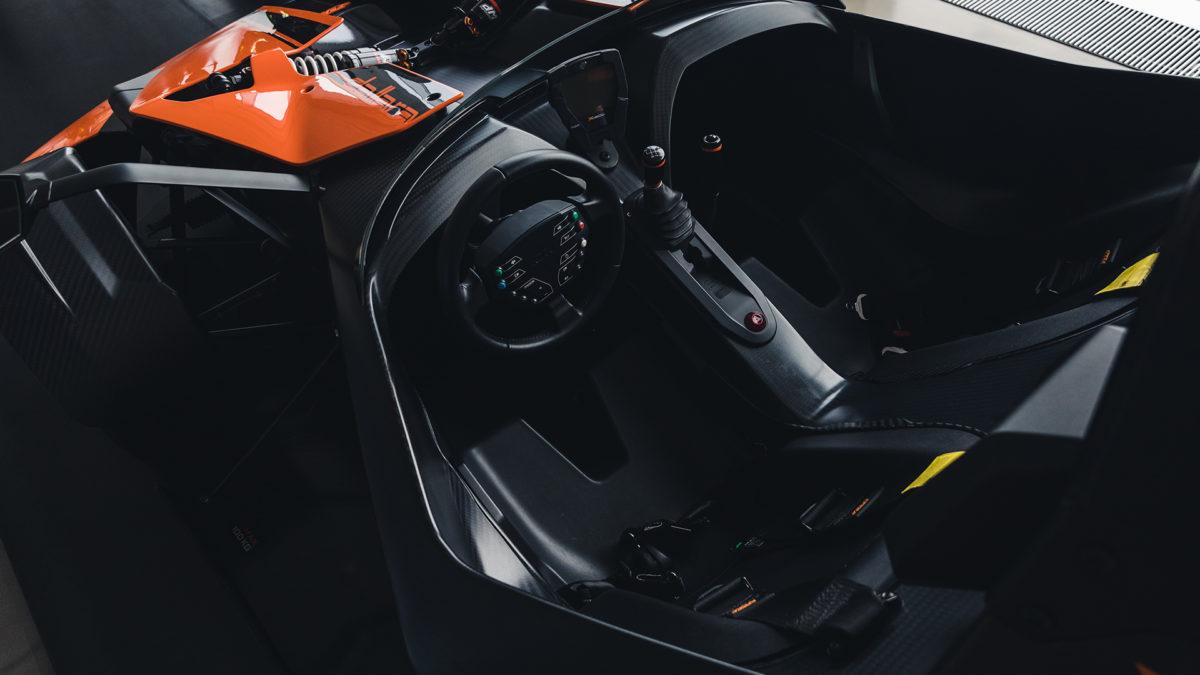 Inside of KTM X-Bow